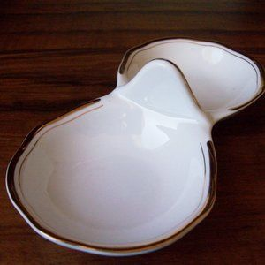 Vintage Divided dip dish, Germany DDR (#EV265)